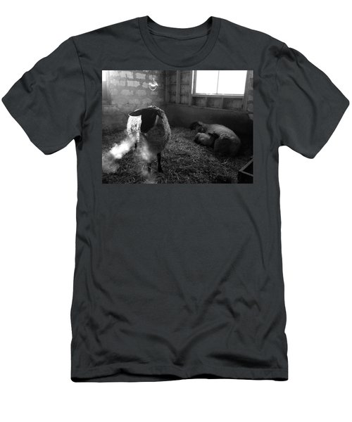 Morning Breath 1 Men's T-Shirt (Athletic Fit)