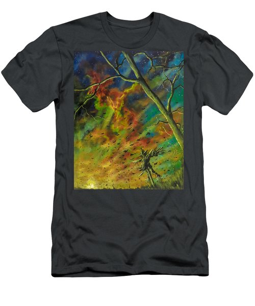 Men's T-Shirt (Athletic Fit) featuring the painting Morning Flight by Joel Tesch