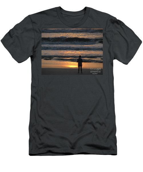 Men's T-Shirt (Slim Fit) featuring the photograph Morning Has Broken by Greg Patzer
