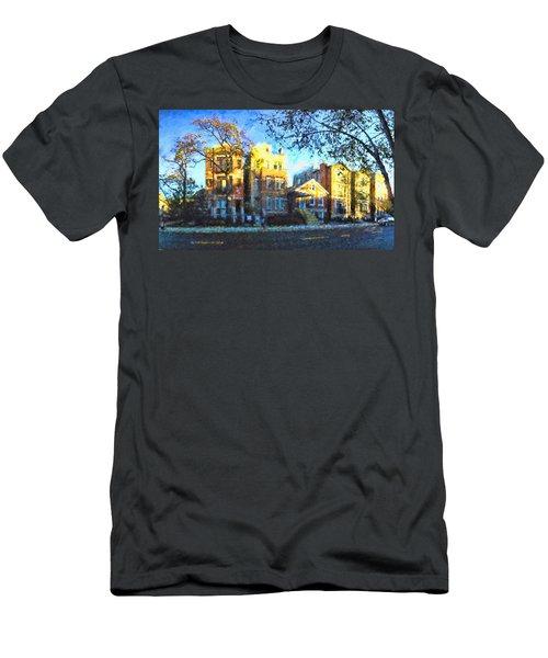 Morning In Bucktown Men's T-Shirt (Slim Fit) by Dave Luebbert