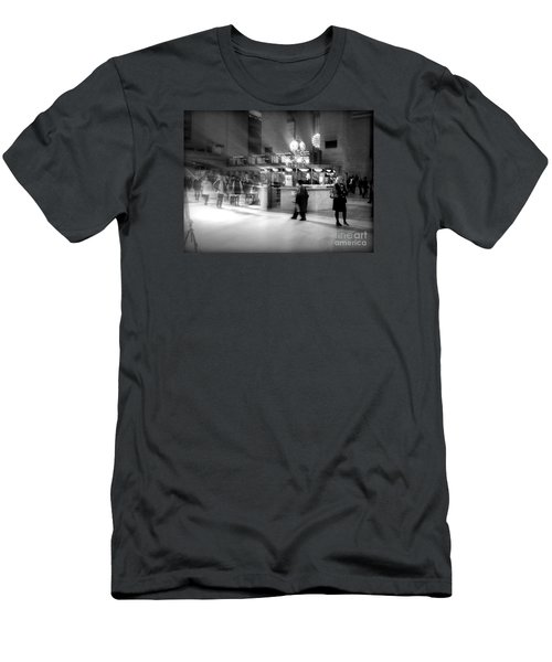 Morning In Grand Central Men's T-Shirt (Slim Fit) by Miriam Danar