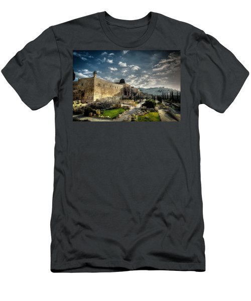 Morning In Jerusalem Hdr Men's T-Shirt (Athletic Fit)