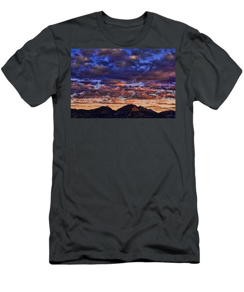 Morning In The Mountains Men's T-Shirt (Slim Fit) by Don Schwartz