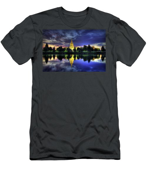 Morning Reflections Of Idaho Falls Temple  Men's T-Shirt (Athletic Fit)