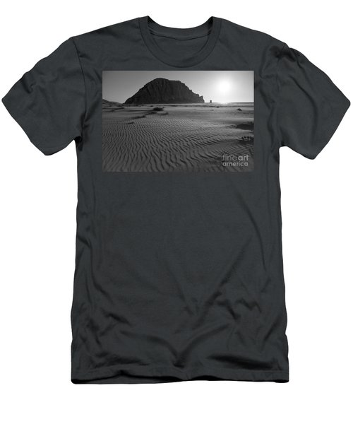 Morro Rock Silhouette Men's T-Shirt (Athletic Fit)