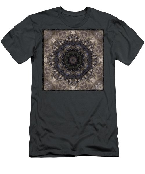 Mosaic Tile / Gray Tones Men's T-Shirt (Slim Fit) by Elizabeth McTaggart