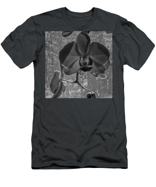 Men's T-Shirt (Slim Fit) featuring the photograph Moth Orchid In Window by Ron White