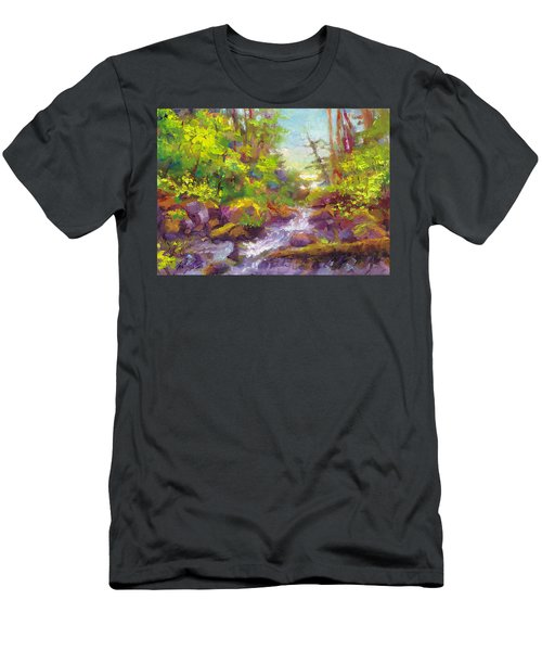 Mother's Day Oasis - Woodland River Men's T-Shirt (Athletic Fit)