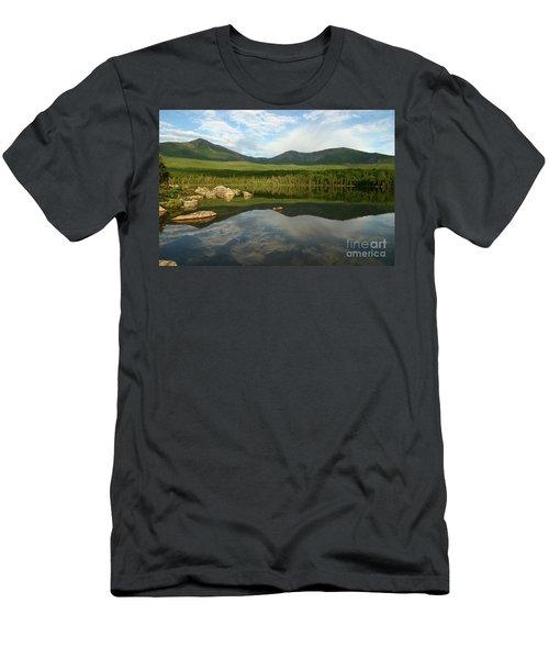 Mount Katahdin Men's T-Shirt (Slim Fit) by Jeannette Hunt