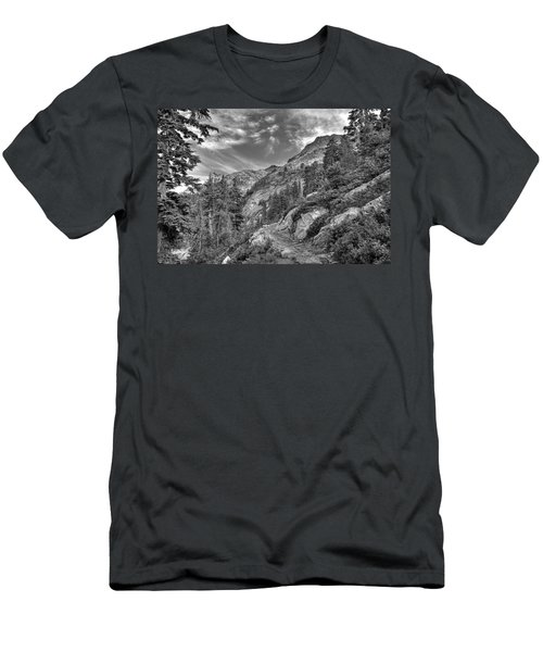 Mount Pilchuck Black And White Men's T-Shirt (Athletic Fit)