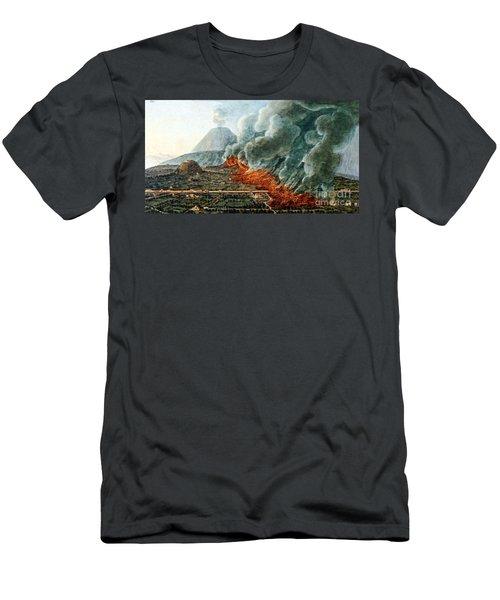 Mount Vesuvius Eruption, 1760-1761 Men's T-Shirt (Athletic Fit)