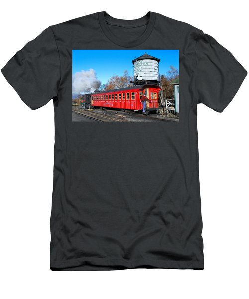 Mount Washington Cog Railway Car 6 Men's T-Shirt (Athletic Fit)