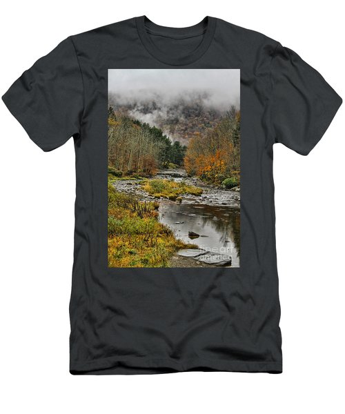 Mountain Colors And Fog Men's T-Shirt (Athletic Fit)
