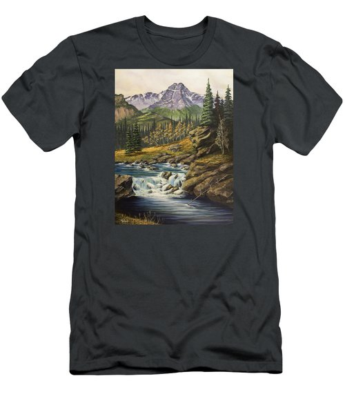 Mountain Of The Holy Cross Men's T-Shirt (Slim Fit) by Jack Malloch