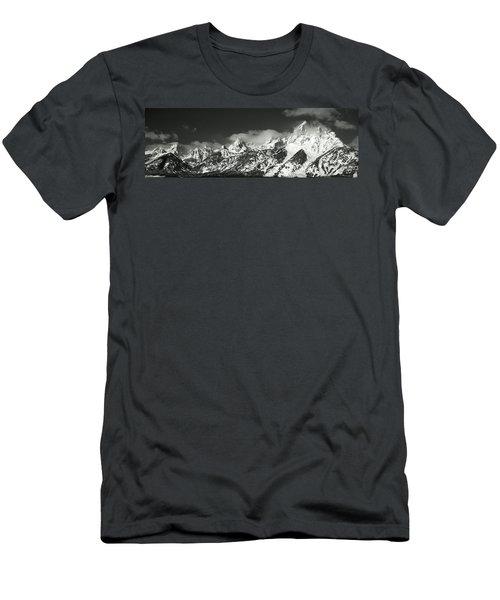 Mountain Range, Grand Teton National Men's T-Shirt (Athletic Fit)