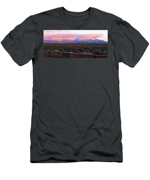Mountain Range Viewed From A Adobe Men's T-Shirt (Athletic Fit)