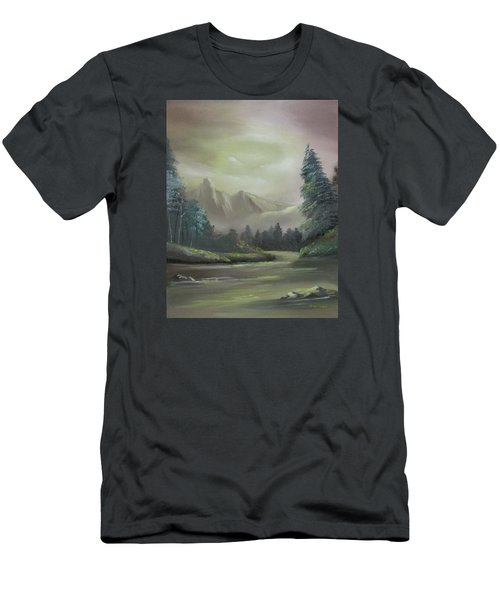 Mountain River Men's T-Shirt (Athletic Fit)