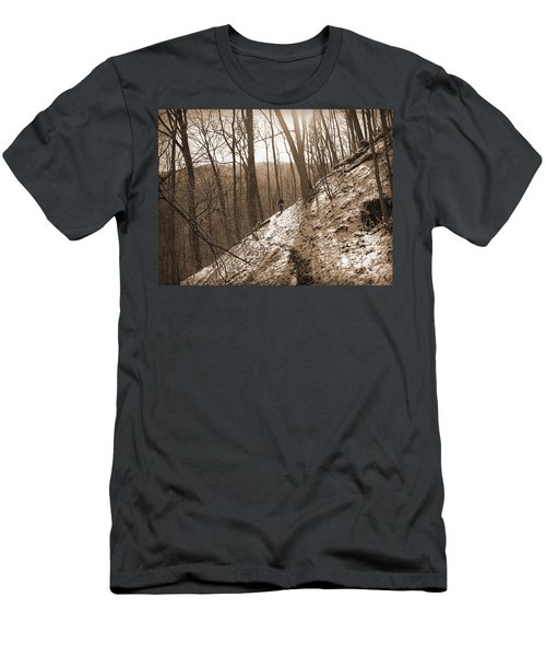 Mountain Side Men's T-Shirt (Slim Fit) by Melinda Fawver
