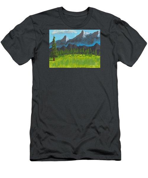 Mountain Vista Men's T-Shirt (Slim Fit) by David Jackson