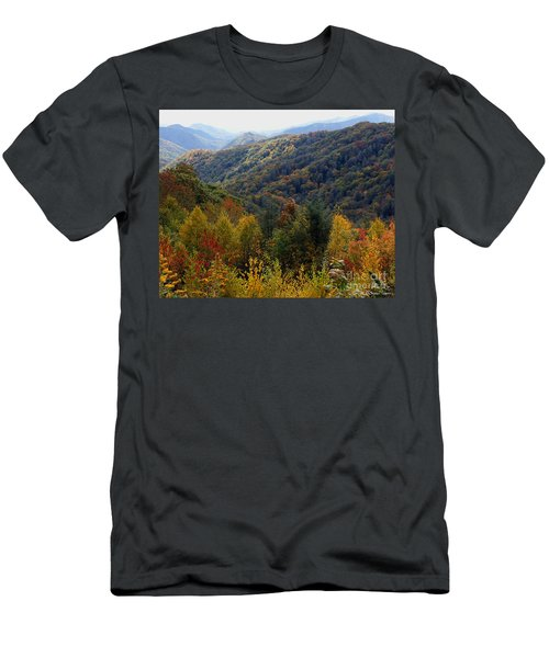 Mountains Leaves Men's T-Shirt (Athletic Fit)