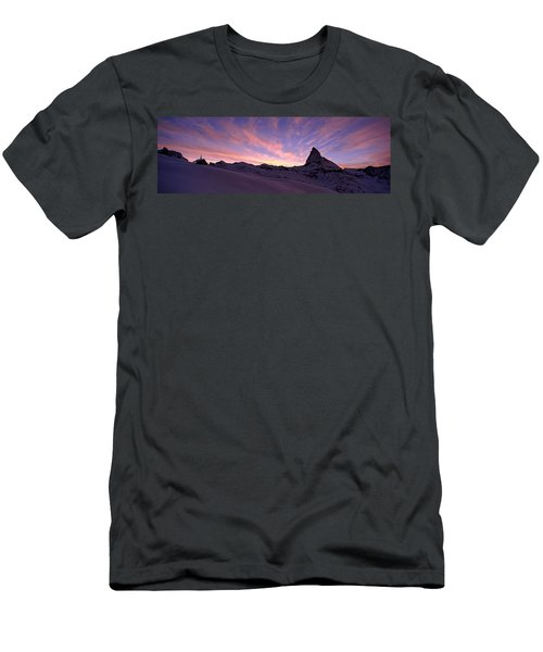 Mt Matterhorn At Sunset, Riffelberg Men's T-Shirt (Athletic Fit)
