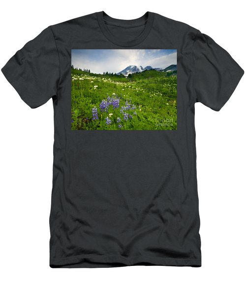 Mt. Rainier Wildflower Profusion Men's T-Shirt (Athletic Fit)