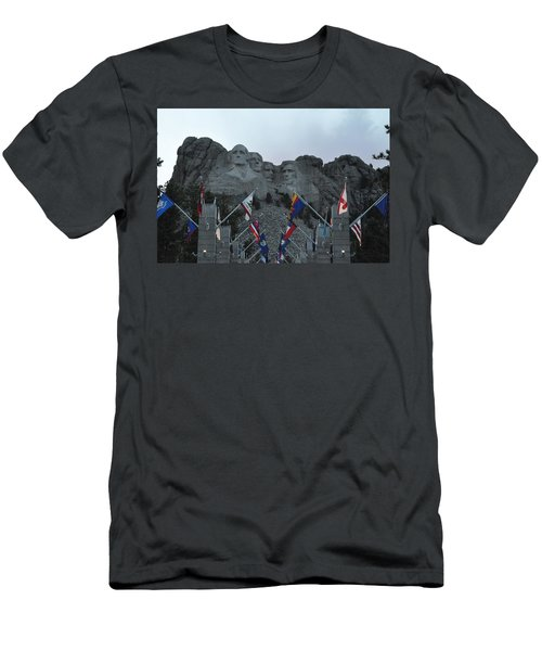 Mt. Rushmore In The Evening Men's T-Shirt (Athletic Fit)