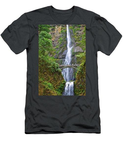 Multnomah Falls 4 Men's T-Shirt (Athletic Fit)