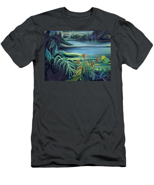 Mural Bird Of Summers To Come Men's T-Shirt (Slim Fit) by Nancy Griswold