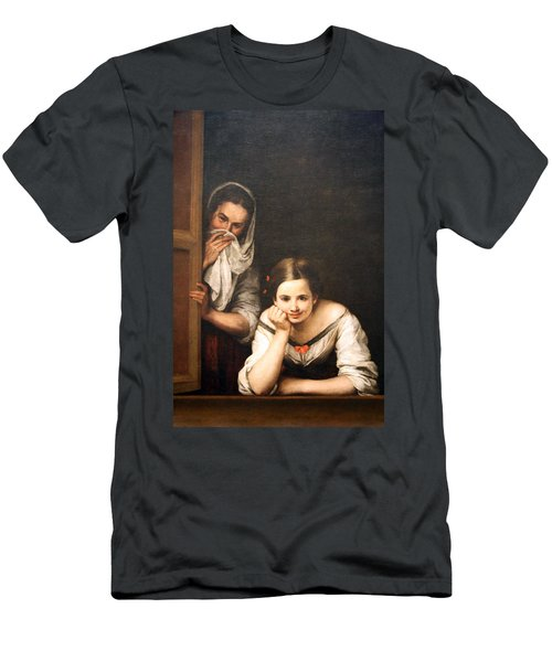 Murillo's Two Women At A Window Men's T-Shirt (Athletic Fit)