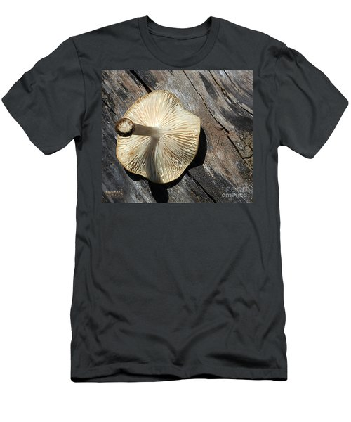 Men's T-Shirt (Slim Fit) featuring the photograph Mushroom On Stump by Tina M Wenger