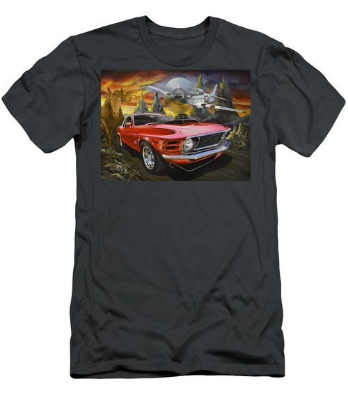 Mustangs 3 Men's T-Shirt (Athletic Fit)