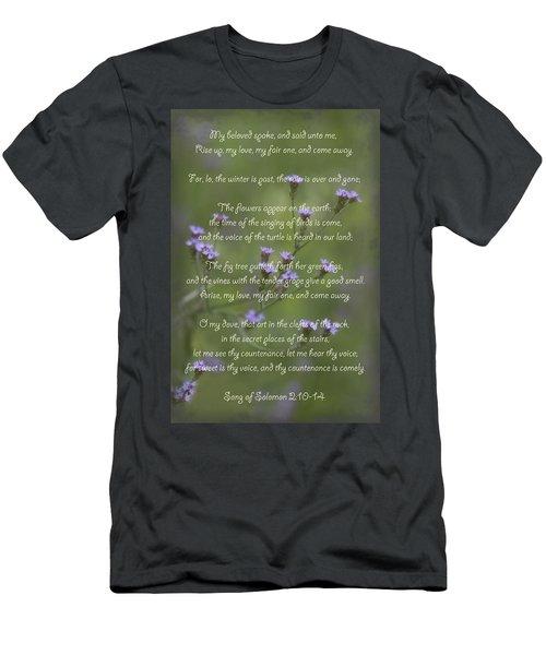 My Beloved Spoke - Purpletop Vervain Verbena Bonariensis Men's T-Shirt (Athletic Fit)