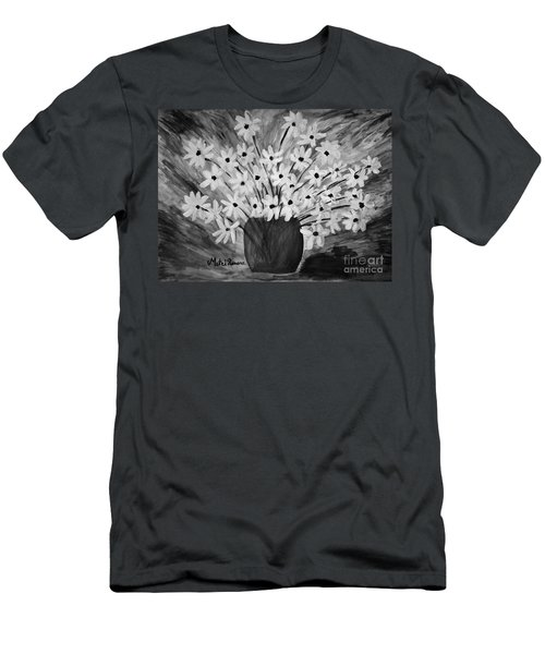 My Daisies Black And White Version Men's T-Shirt (Athletic Fit)