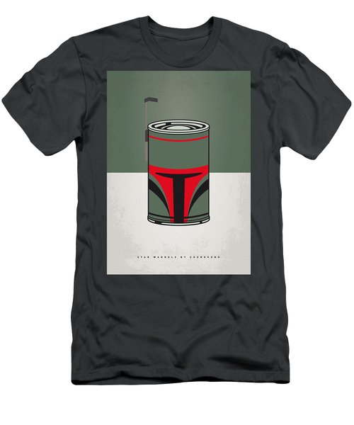 My Star Warhols Boba Fett Minimal Can Poster Men's T-Shirt (Athletic Fit)