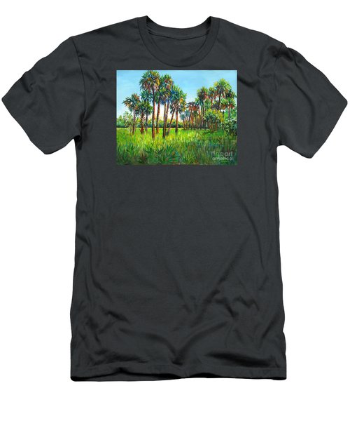 Myakka Palms Men's T-Shirt (Slim Fit) by Lou Ann Bagnall