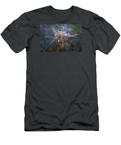 Mystic Mountain Men's T-Shirt (Slim Fit) by Nasa