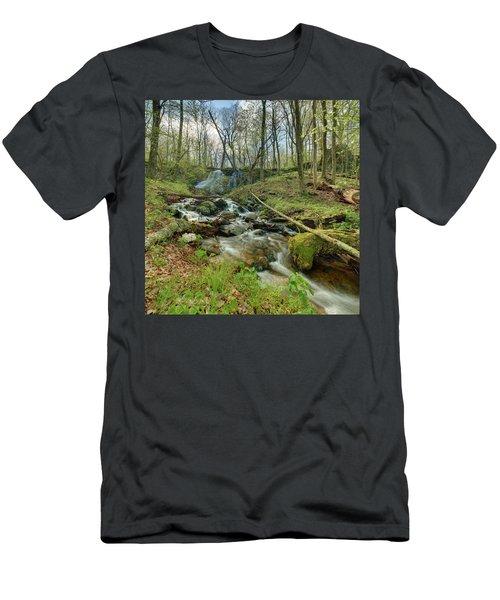 Naked Creek Falls Men's T-Shirt (Athletic Fit)