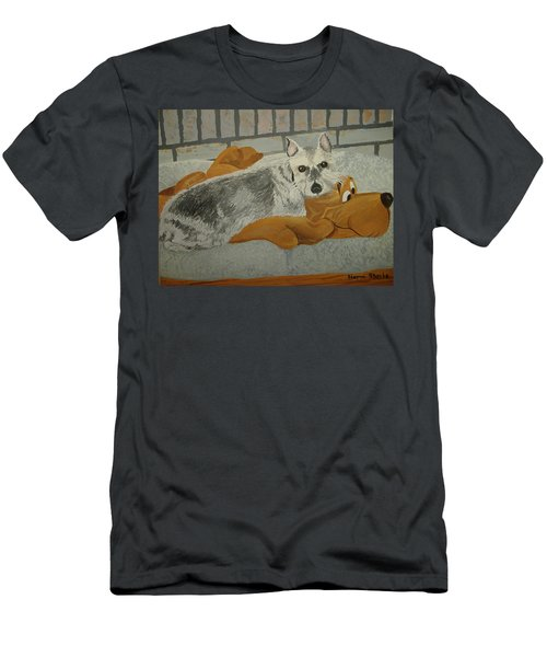 Naptime With My Buddy Men's T-Shirt (Athletic Fit)