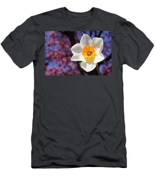Narcissus And Cherry Blossoms Men's T-Shirt (Athletic Fit)
