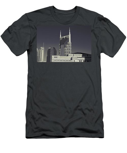 Nashville Tennessee Batman Building Men's T-Shirt (Slim Fit) by Dan Sproul