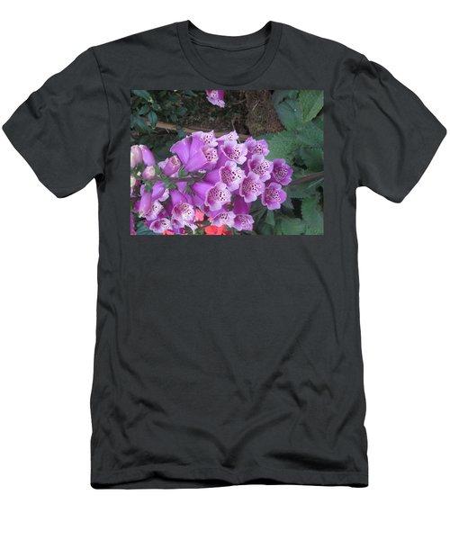 Men's T-Shirt (Slim Fit) featuring the photograph Natural Bouquet Bunch Of Spiritul Purple Flowers by Navin Joshi