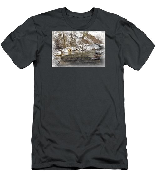 Men's T-Shirt (Slim Fit) featuring the photograph Nature's Direction by Janie Johnson