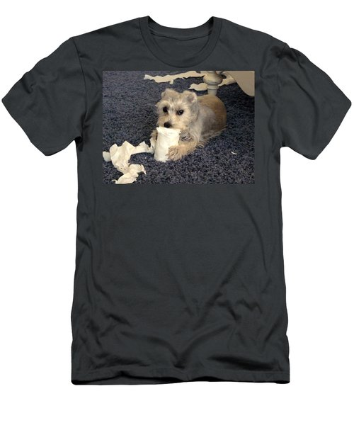 Naughty Schnauzer Men's T-Shirt (Athletic Fit)