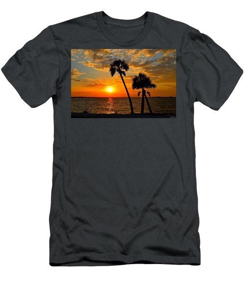 Navarre Beach Bridge Sunrise Palms Men's T-Shirt (Athletic Fit)