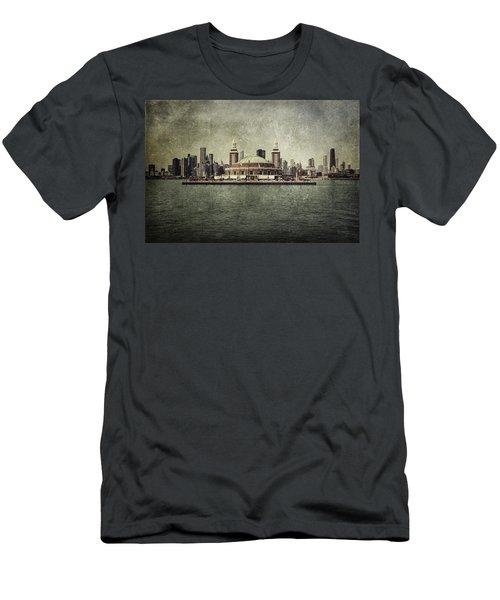 Navy Pier Men's T-Shirt (Athletic Fit)