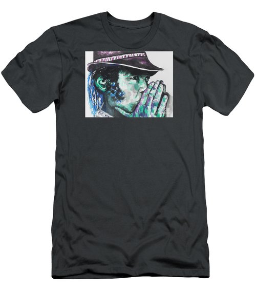 Neil Young Men's T-Shirt (Slim Fit) by Chrisann Ellis