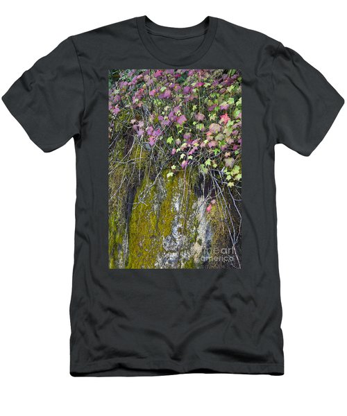 Neon Leaves No 2 Men's T-Shirt (Slim Fit) by Alycia Christine