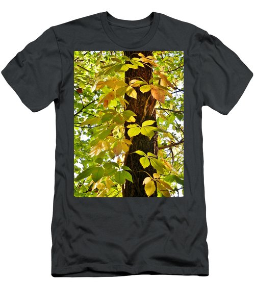 Neon Leaves Men's T-Shirt (Athletic Fit)