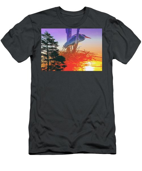 Nesting Heron - Summer Time Men's T-Shirt (Athletic Fit)